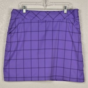Antiqua Desert Dry Tech Purple Golf Skort sz 10